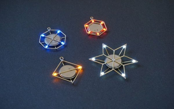 Learn free-form while making this lovely LED jewelry
