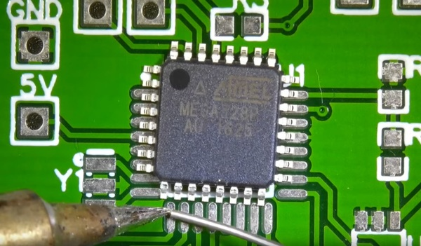 Surface-mount soldering takes more practice than anything else