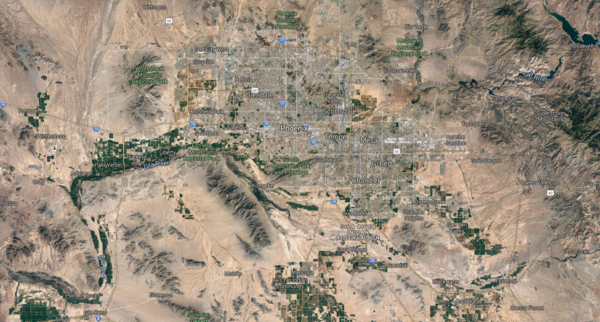 Surburban expansion in the Valley of the Sun (Phoenix area) of Arizona