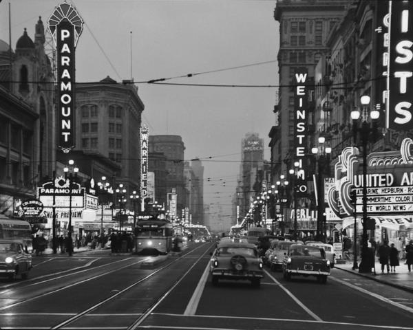 The birth of a Market Street cinema district: Celebrities, crack dens and a coda - SFChronicle.com