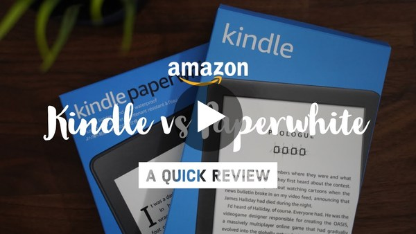 Amazon Kindle vs Kindle Paperwhite (2019)
