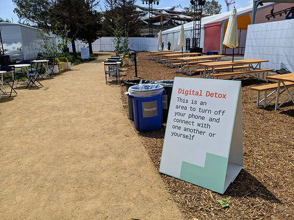 The [very empty] Digital Detox area at Google, Mountain View, California