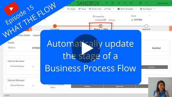 Automatically update the stage of a Business Process Flow