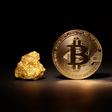 """Bitcoin: wat als het """"nieuwe goud"""" de werkelijke goudprijs volgt?"""