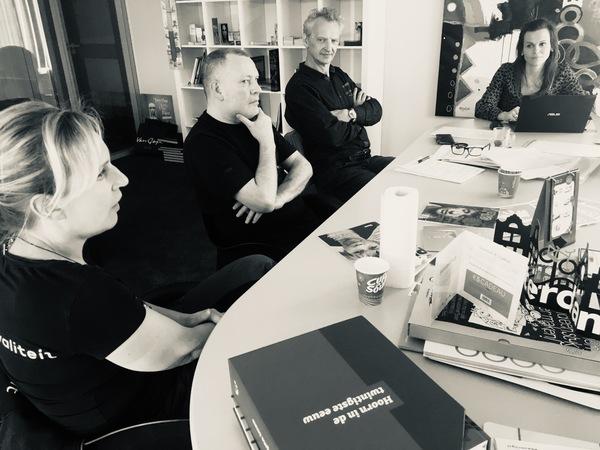 Karin Jansen, Marcel Out, Marcel Janson, verbeterteam  Koopmans' Drukkerij