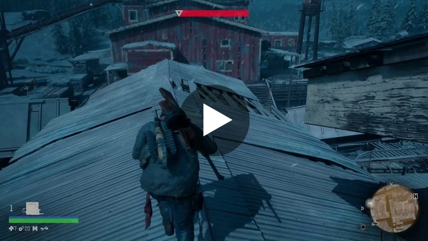 Dean Takahashi of GamesBeat finally gets to play the sawmill battle with a Freaker horde in Days Gone.