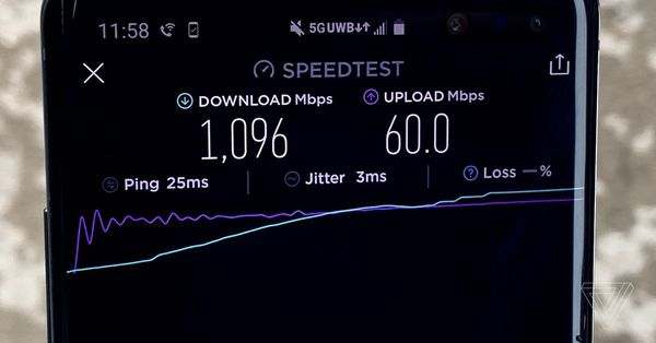 Verizon's 5G network is now hitting gigabit download speeds