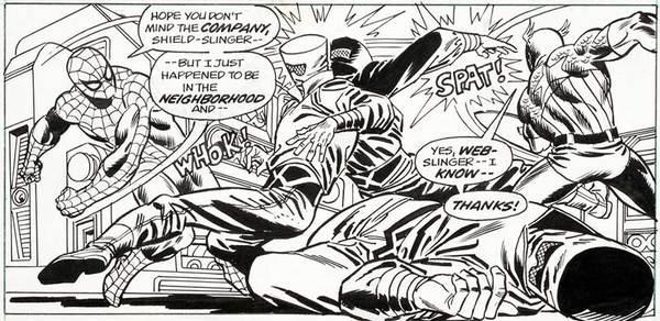 Gil Kane - Marvel Team Up Original Comic Art