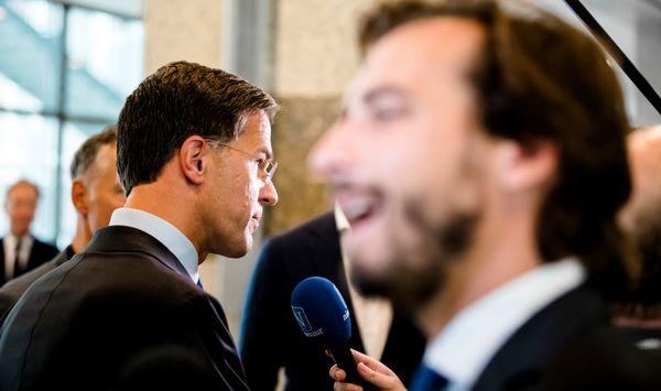 Rutte en Baudet tijdens vragenuurtje