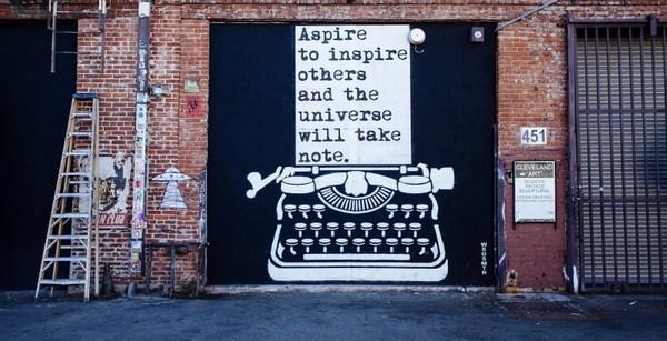 Aspirer à inspirer les autres et l'univers prendra note... c'est un peu l'esprit de cette lettre