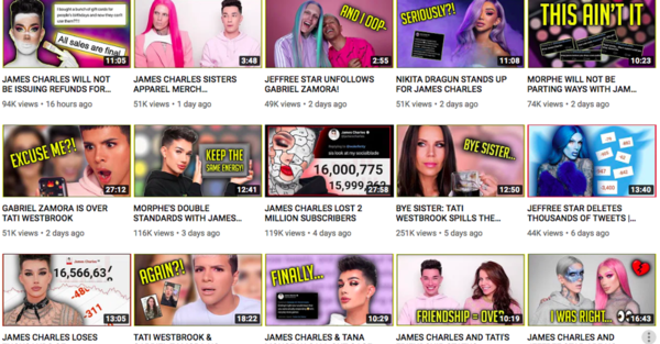 How Tea Accounts Fuel the James Charles YouTube Feud
