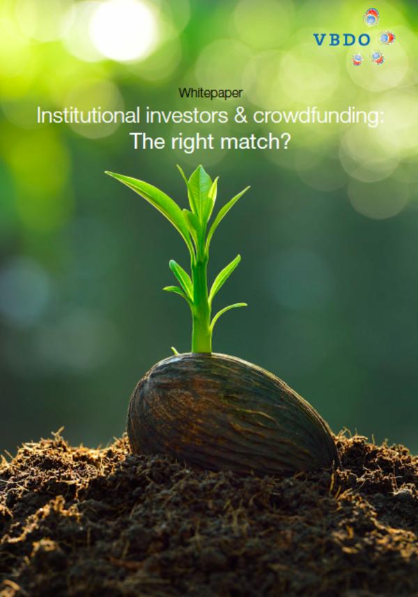 Institutionele beleggers investeren te weinig in crowdfunding