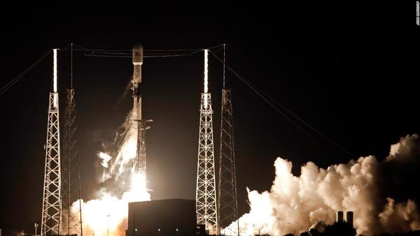 SpaceX launches first batch of 60 internet satellites in landmark mission