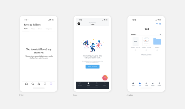 Full article:  State of mobile app design 2019 – UX Collective
