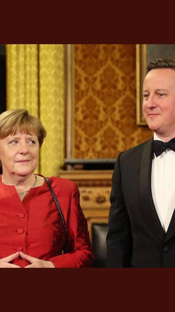 Merkel met Cameron