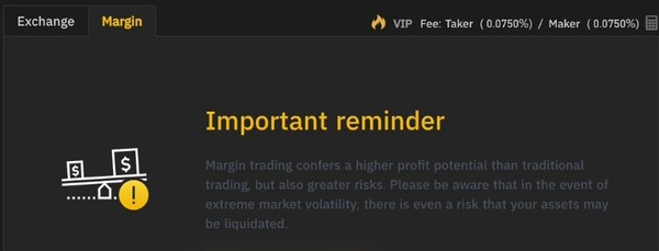 Binance Has Margin Trading - Call For More DETAILS