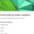 Social media for public speakers