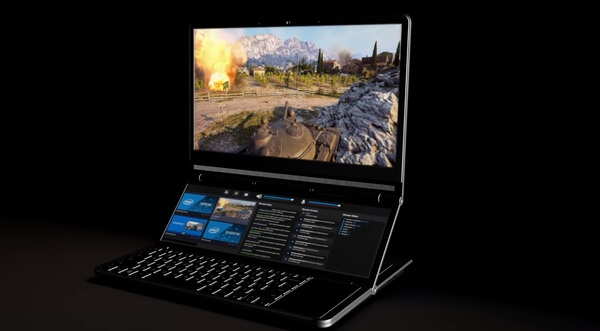 Intel's New Dual-Screen Honeycomb Glacier Laptop Prototype Drives Computex Buzz