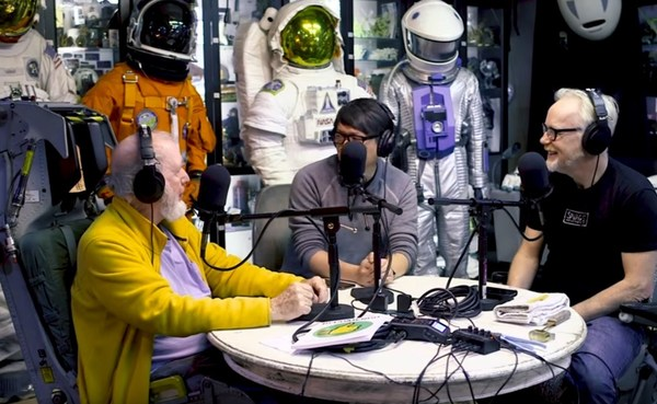Kevin Kelly, Adam Savage, and Norm Chan exchange tips for continuous learning