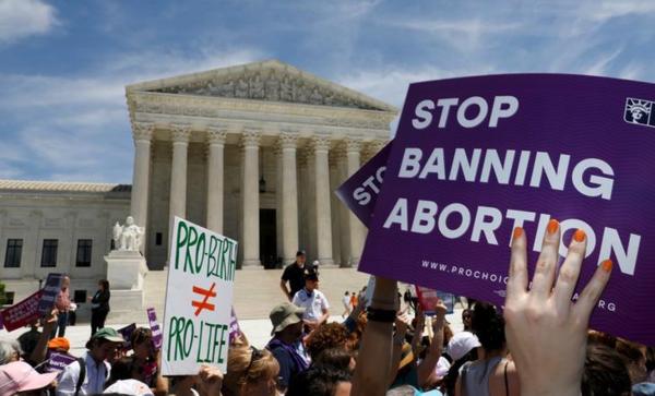 De anti-abortuswetten in verschillende staten leidden eerder deze maand tot grote landelijke protesten, zoals hier in Washington DC (foto: Reuters)