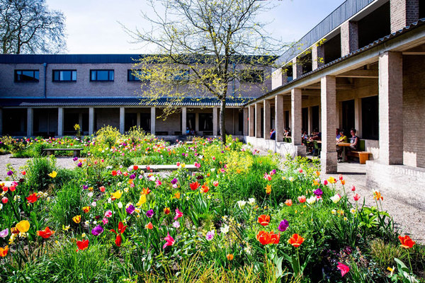 De binnentuin op Buitenplaats Doornburgh