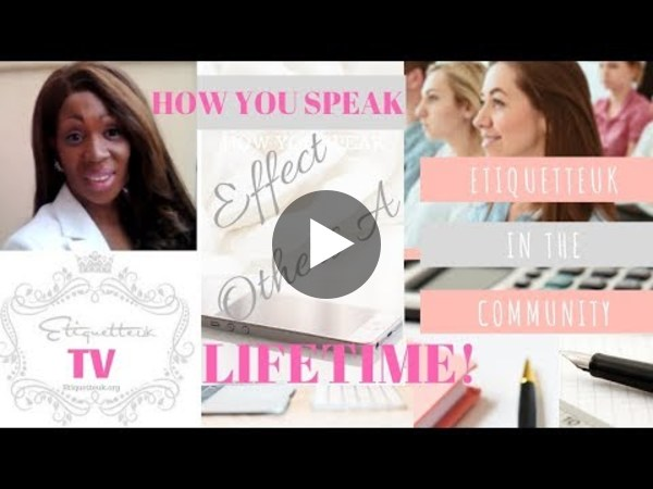 How You Speak Effect Others For A Lifetime With Sonya Lee Davies