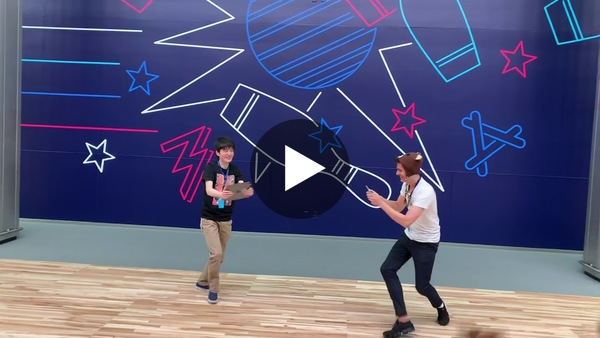 AR game demo at WWDC