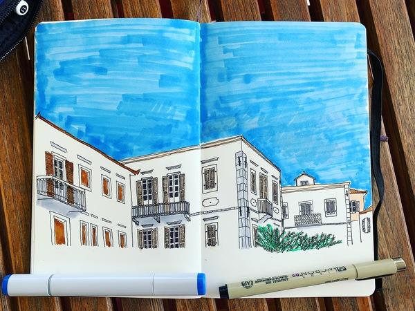 Urban sketch by mr TH.INK