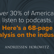 Investing in the Podcast Ecosystem in 2019 – Andreessen Horowitz