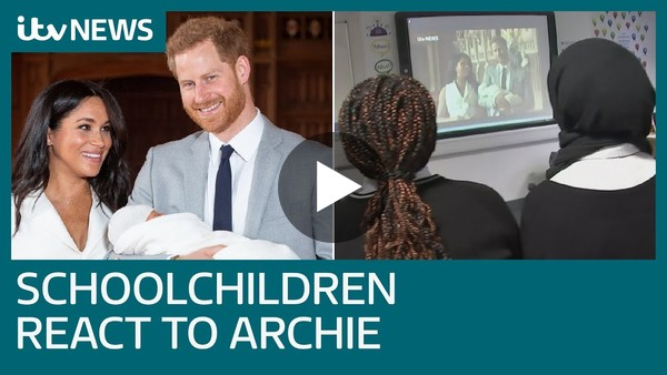 'Archie is helping Britain to evolve': Nottingham schoolchildren react to royal baby news | ITV News