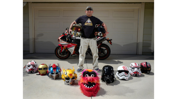 Laguna Hills man transforms motorcycle helmets into pop culture characters – Orange County Register