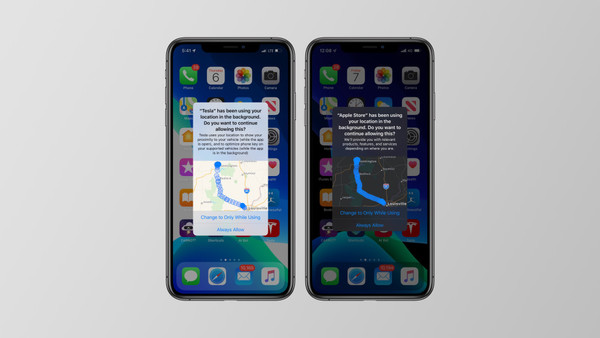 iOS 13 now shows a map of where apps have been tracking you when requesting permission