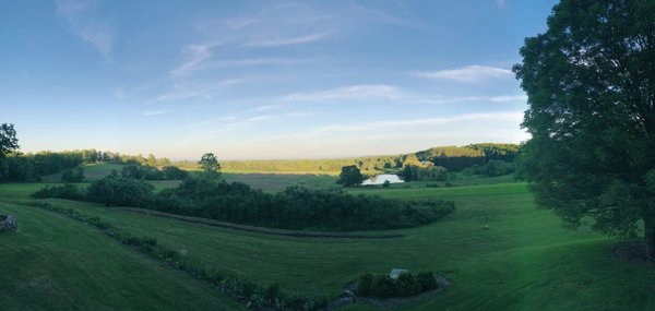 Great views from the farm
