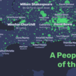 A People Map of the UK, where city names are replaced by their most Wikipedia'ed resident: people born in, lived in, or connected to a place.