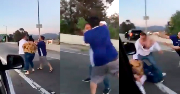 "Brawl Breaks Out on Highway After White Couple Cuts Off Latino Family, Calls Them ""Beaners"""