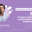 [Designing Conversations] How to make a Conversational Landing Page for a Travel Marketing Campaign