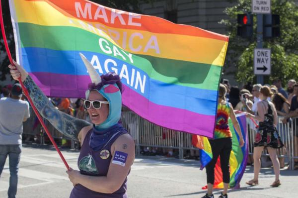 Deze week was de jaarlijkse Gay Pride Parade in Washington DC (foto: Reuters)