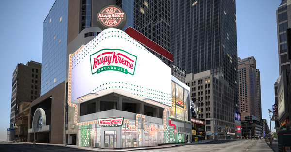 A Massive Krispy Kreme Flagship Store Is Opening in Times Square, Complete with a Glaze Waterfall