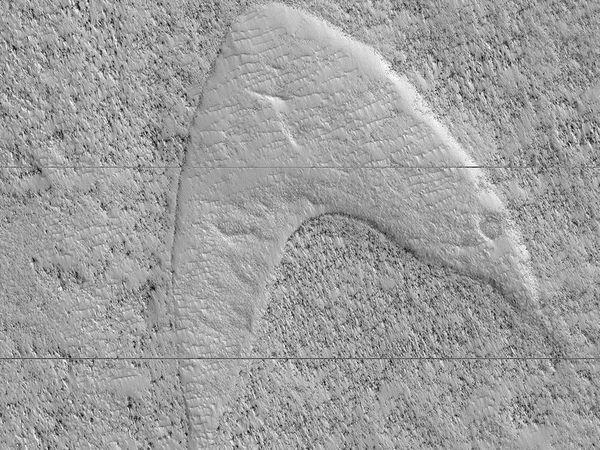 Star Trek op Mars: NASA ontdekt Starfleet logo in afdruk - WANT