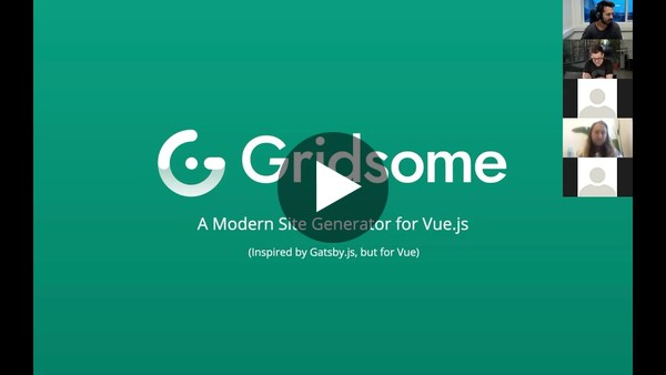 What is Gridsome – Tommy Vedvik (Global Summer Meetup, June 11th, 2019)