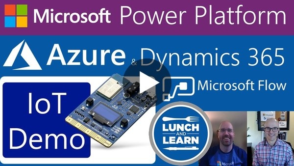 14) Azure IoT & Microsoft Power Apps, Dynamics 365, Flow, Cosmos DB - Intelligent Service Demo