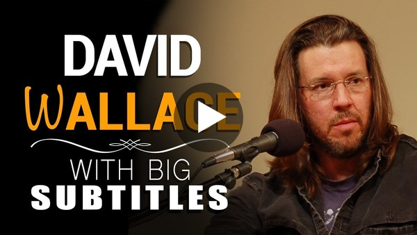 "Learn English | David Foster Wallace ""This is Water."" (with BIG Subtitles)"