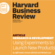 Using Experiments to Launch New Products