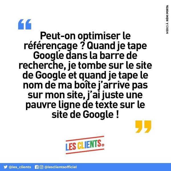"Les clients on Instagram: ""Ceci n'est pas une fiction. #lesclients #seo #google #webmarketing #agencylife"""
