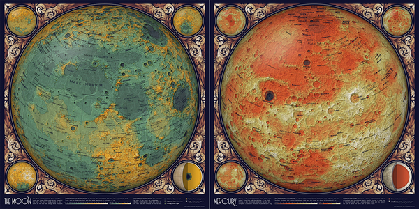 A topographic map of Mercury
