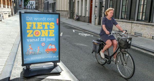 La plus grande zone cyclable de Flandre inaugurée à Courtrai - Grootste fietszone van Vlaanderen opent in Kortrijk