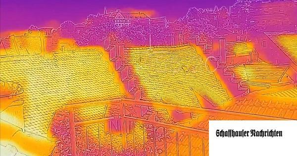 Bis zu 34 Grad Hitze: Die Stadt durch die Linse einer Wärmebildkamera