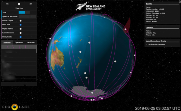 LeoLabs and New Zealand announce tool to monitor low Earth orbit activity