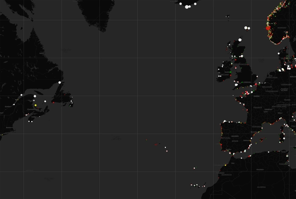 An interactive map of the world's lighthouses and their signal patters (https://geodienst.github.io/lighthousemap/)