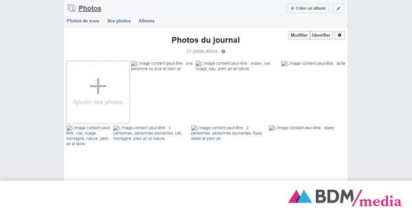 L'image contient peut-être... : la panne Facebook révèle les descriptions générées automatiquement - BDM